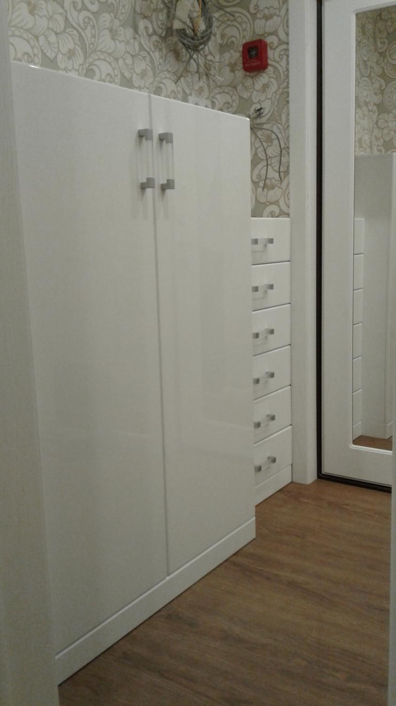 Прихожая в белом глянце - прихожие - наши работы - шкафы-куп.
